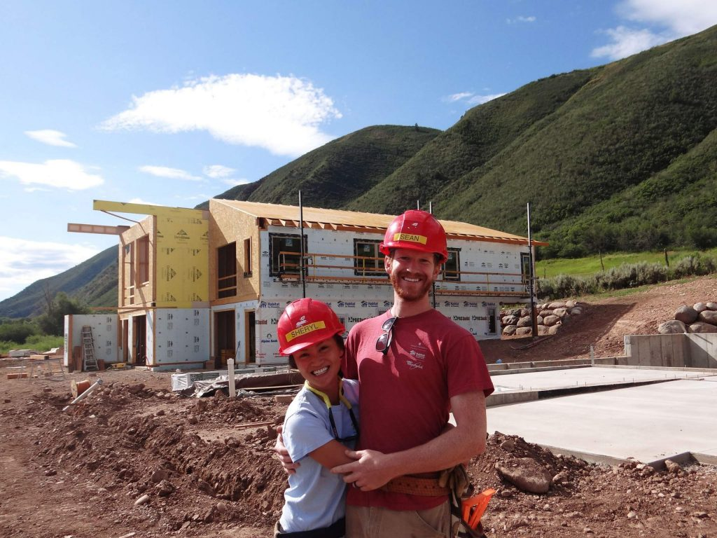 Sheryl Sabandal and Sean Fick celebrated their one-year wedding anniversary July 27 by volunteering at Basalt Vista. It was a fitting celebration since they met at a Habitat project in Indiana in 2009.
