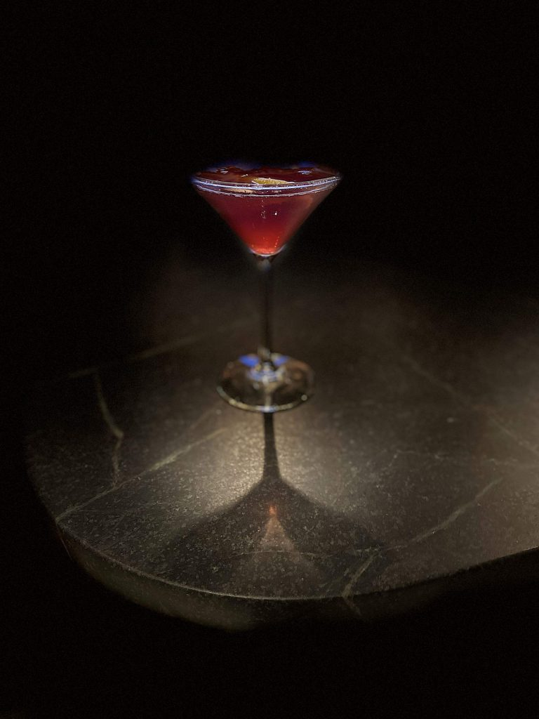 The 3 Berry Martini is one of the highlights of the cocktail menu at the new moxieBar at Snowmass Base Village.