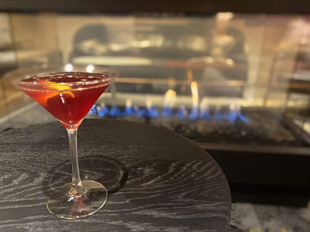 The 3 Berry Martini being served up at the new moxiBar in Snowmass Base Village is a great sipping drink by the fire.