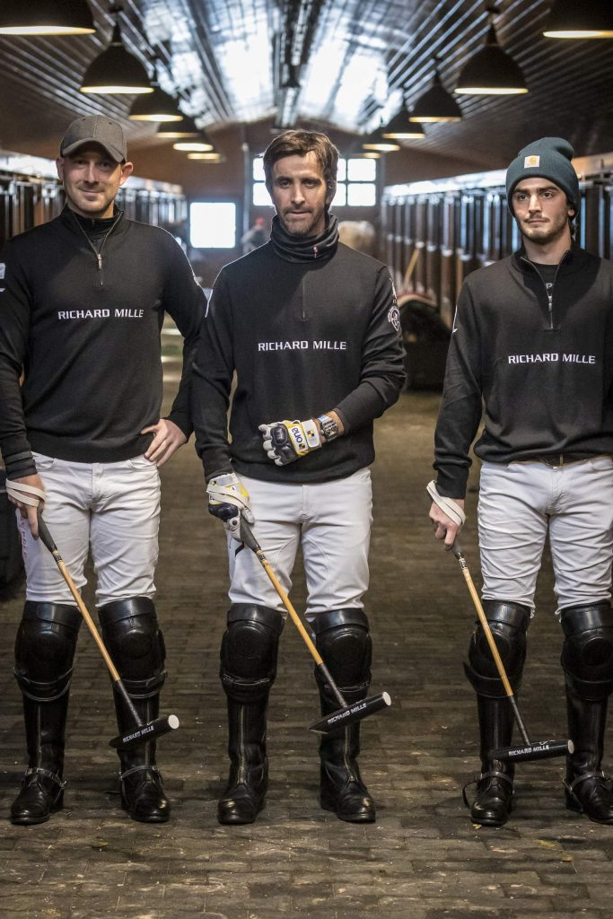 Richard Mille, the reigning champions, pose during the qualifying games of the World Snow Polo Championship on Wednesday, Dec. 18, 2019, at Aspen Valley Polo Club in Carbondale.