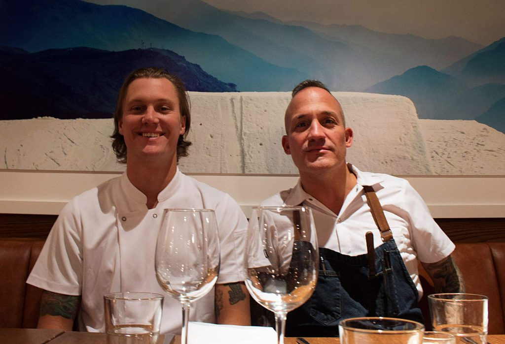 Robert Sieber, executive chef of The Snow Lodge, and culinary director Sean Olnowich.
