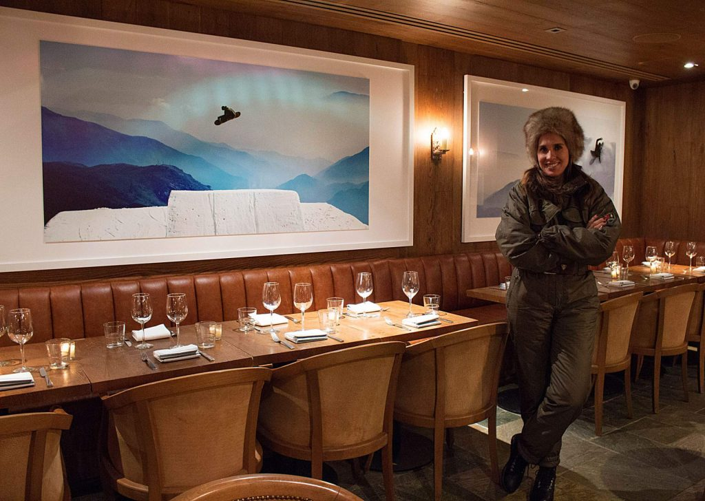 Jayma Cardoso, founder and director of both The Surf Lodge and The Snow Lodge, stands in the new apres spot on Wednesday.