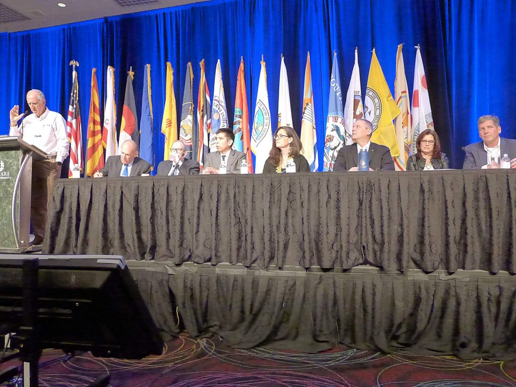 General Manager of the Glenwood Springs-based Colorado River Water Conservation District Andy Mueller, far right, sits on a panel with a group of Lower Basin water managers at the annual Colorado River Water Users Association conference in Las Vegas earlier this month. Mueller told the audience that the Upper Basin needs to reduce its consumptive use.