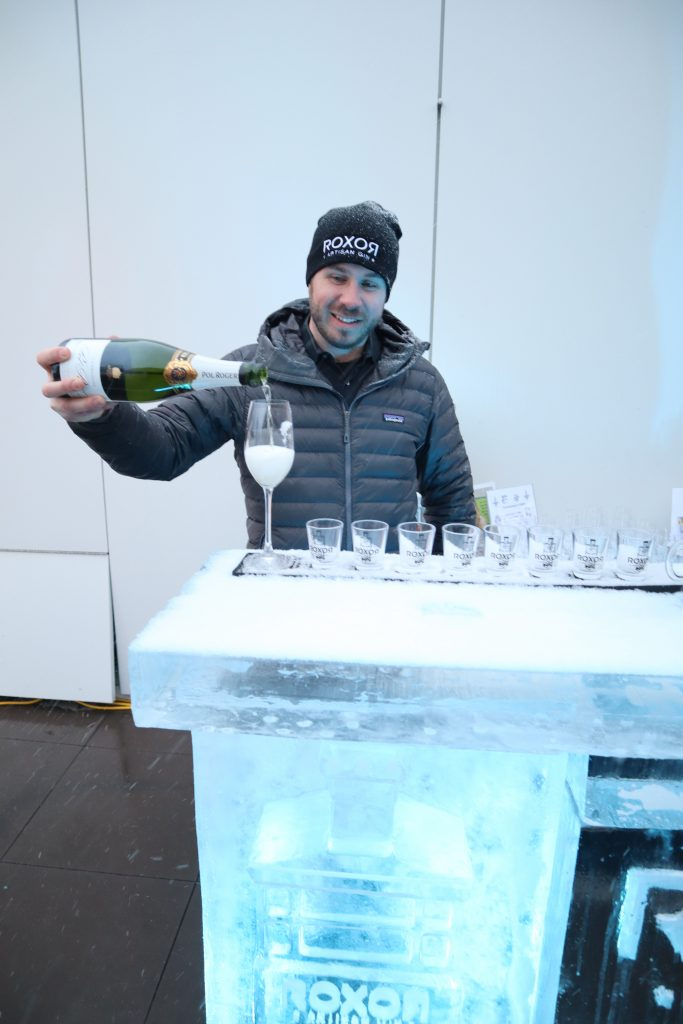 Ken Robeson welcomes guests to the rooftop ice bar sponsored by ROXOR Artisan Gin.