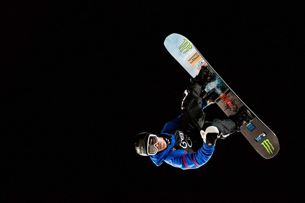 Sven Thorgren takes the bronze in X Games Aspen's men's snowboard big air final on Saturday, Jan. 25, 2020, at Buttermilk Ski Area in Aspen Snowmass, Colo. (Liz Copan/Summit Daily News via AP)