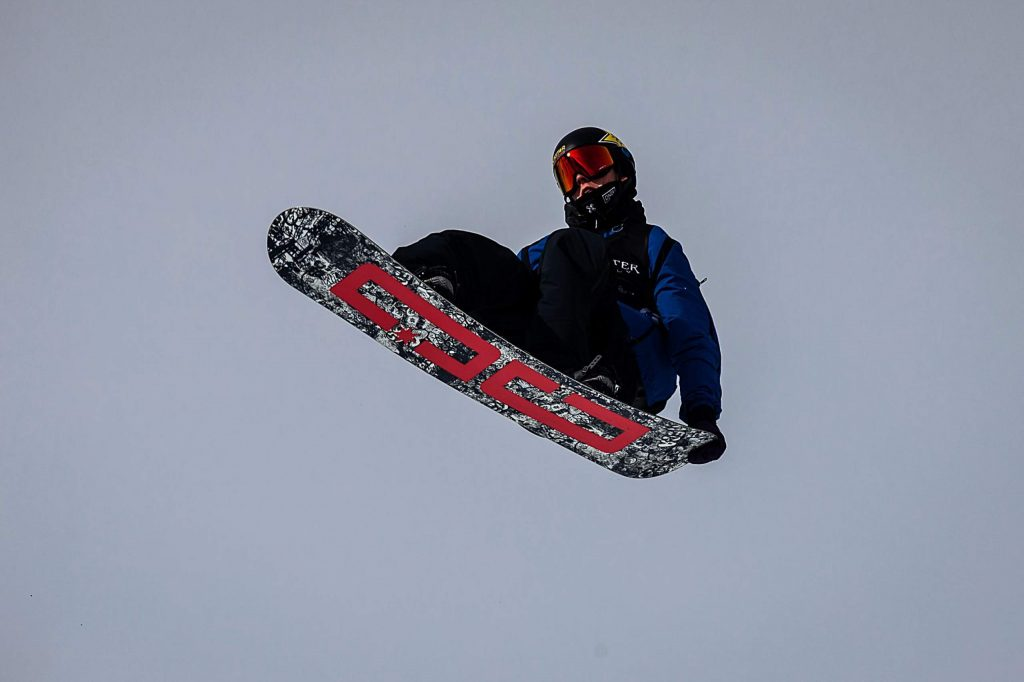 Mons Røisland competes in men's snowboard big air elimination round at X Games Aspen on Friday, Jan. 24, 2020, at Buttermilk Ski Area in Aspen Snowmass, Colo. Røisland placed third in the elimination round and will be back for the finals on Saturday. (Liz Copan/Summit Daily News via AP)