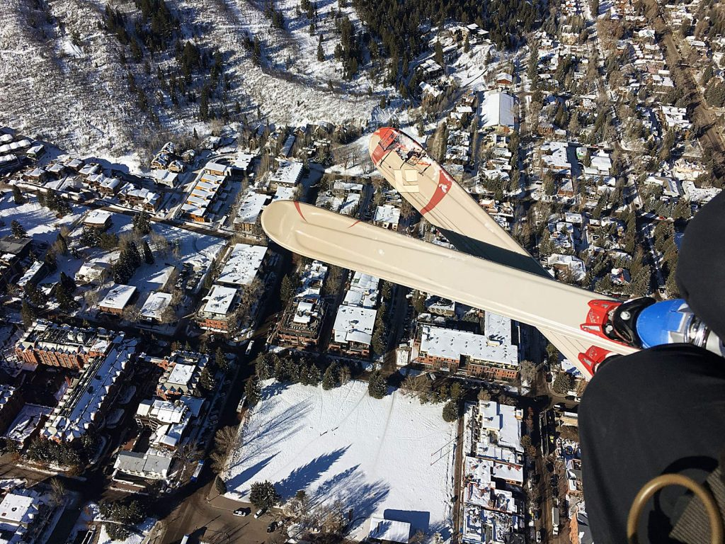 Reader David Francuzzo caught a bird's eye view of Aspen while paragliding over town last week.
