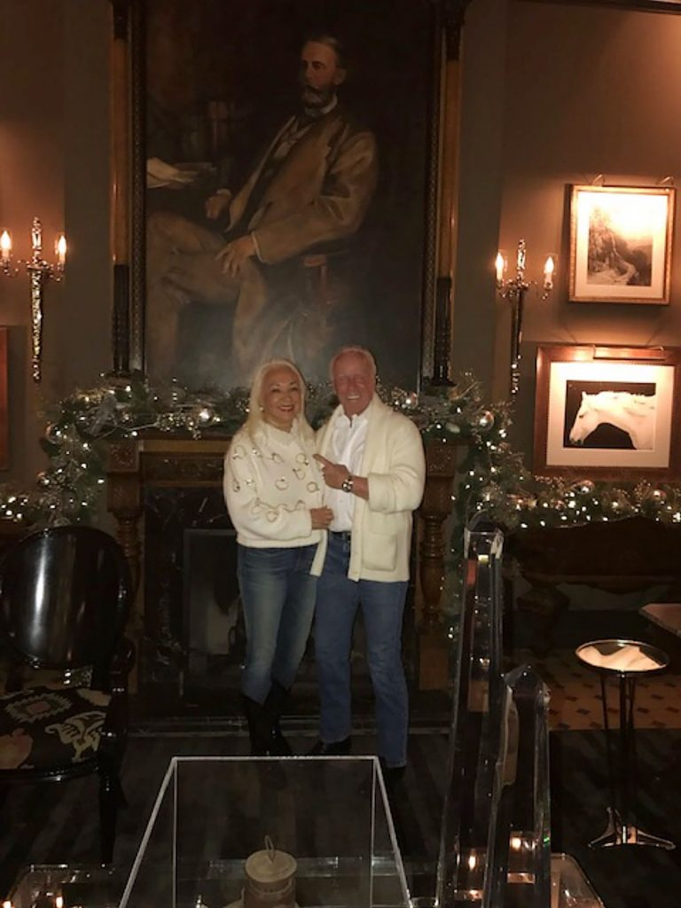 "JoAnna and William Beach celebrated their 55th anniversary as part-time Aspen residents on Christmas Eve at the Hotel Jerome. More importantly, Mr. Beach noted, they also celebrated their ""first year wedding anniversary having married in Aspen Xmas 2018 after a 37-year engagement —woman has the patience of a saint."""