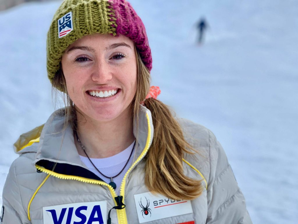 Aspen ski racer Galena Wardle poses on Friday, Dec. 27, 2019, at the base of Aspen Mountain. (Photo by Austin Colbert/The Aspen Times)