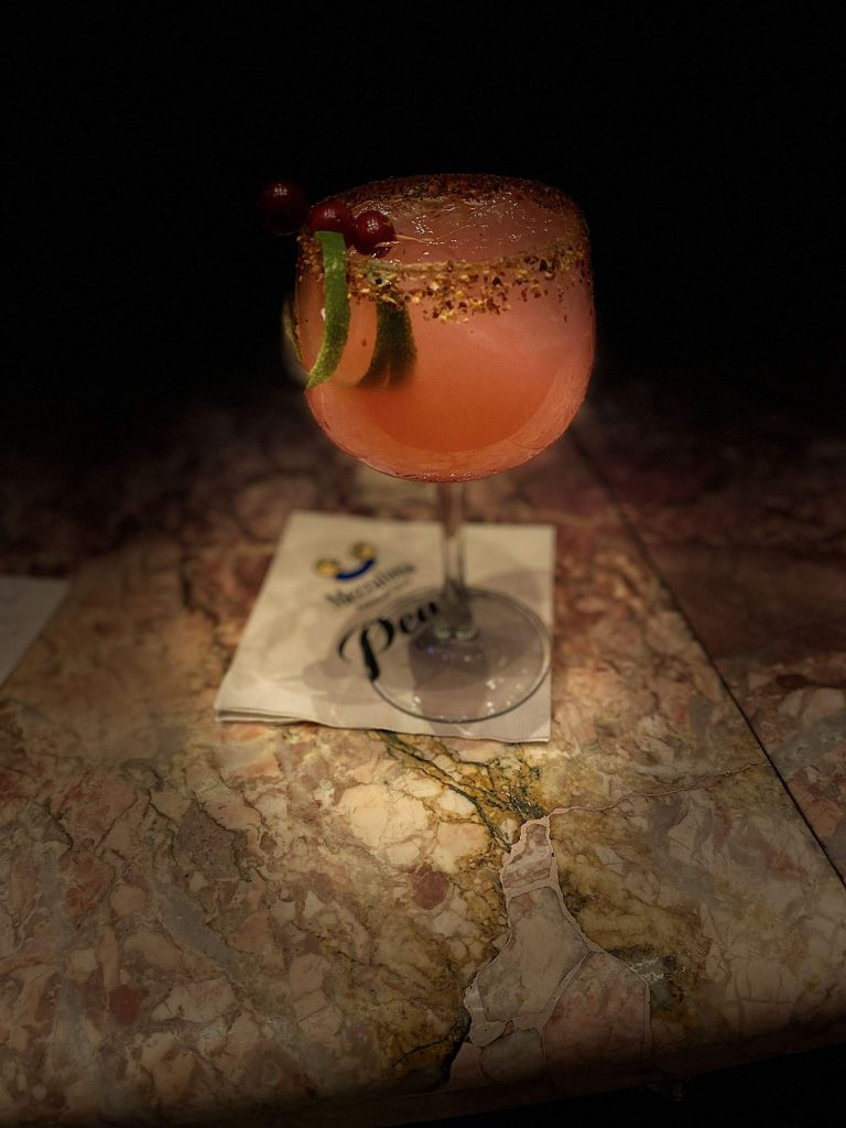 Adding a little warmth to the winter cocktail menu, the team at Mezzaluna is mixing a cranberry-jalapeno margarita that will warm you from the inside on a chilly day.