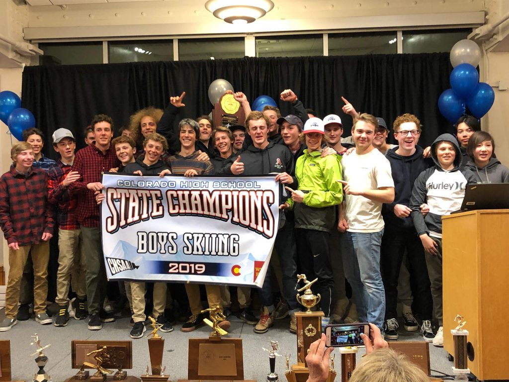 The Aspen High School boys ski team won the 2019 state championship.