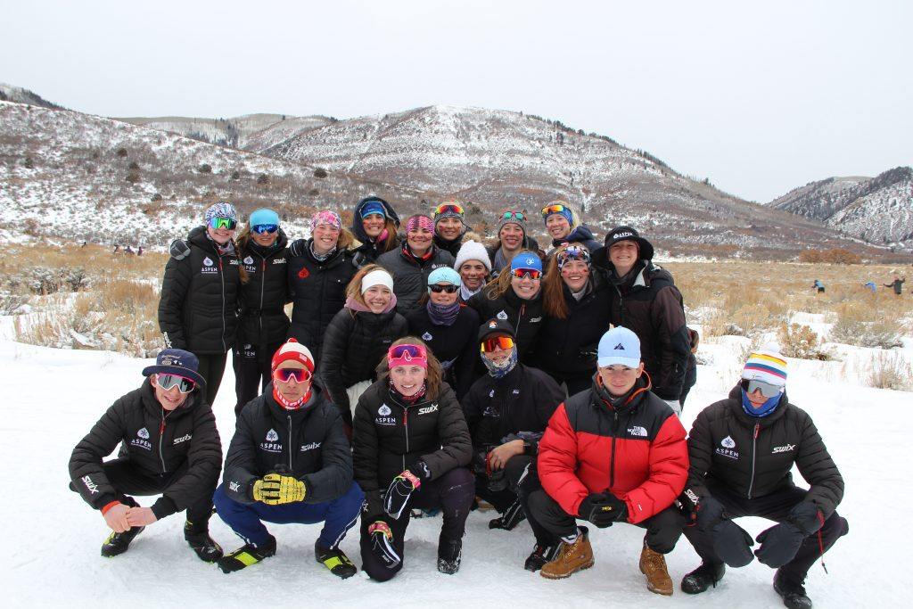 The 2020 Aspen High School Nordic ski team
