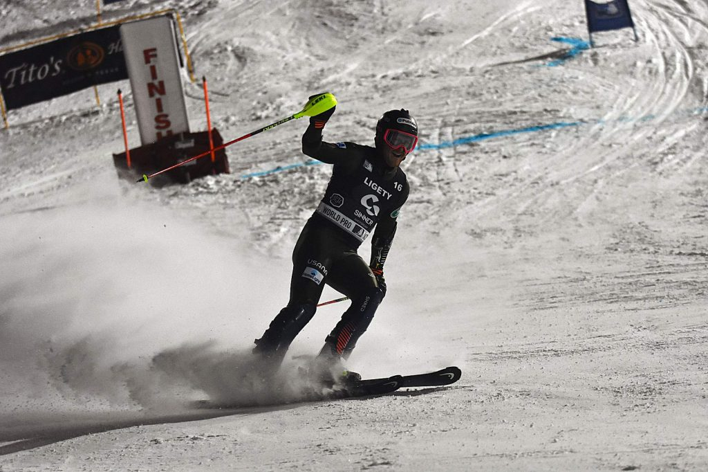 Twp-time Olympic gold medalist Ted Ligety took fourth in the World Pro Ski Tour race at Howelsen Hill on Thursday, Jan. 2.