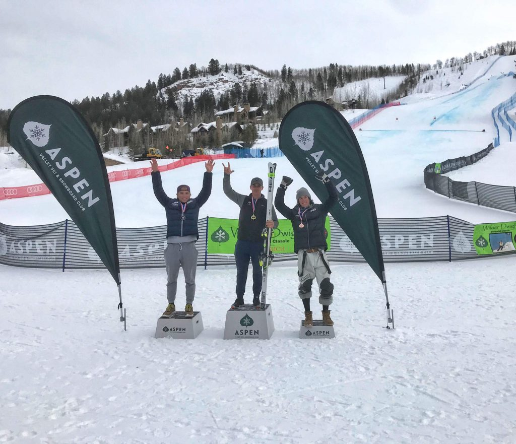 AVSC athletes Tanner Perkins, Kristopher Westman and Wyatt Palmer finished 1-2-3, respectively, in Thursday's men's FIS downhill at Aspen Highlands.