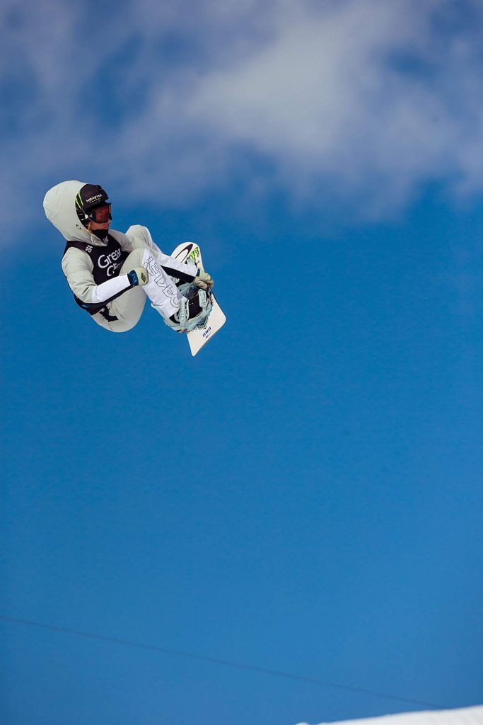 Canada's Laurie Blouin smiles after finishing second in the women's snowboard slopestyle on Saturday, Jan. 25, 2020.