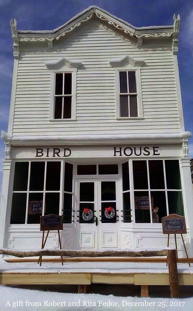 Rob Fedor's model of the Bird house captures the ornate woodworking by Edmund Hawkins.