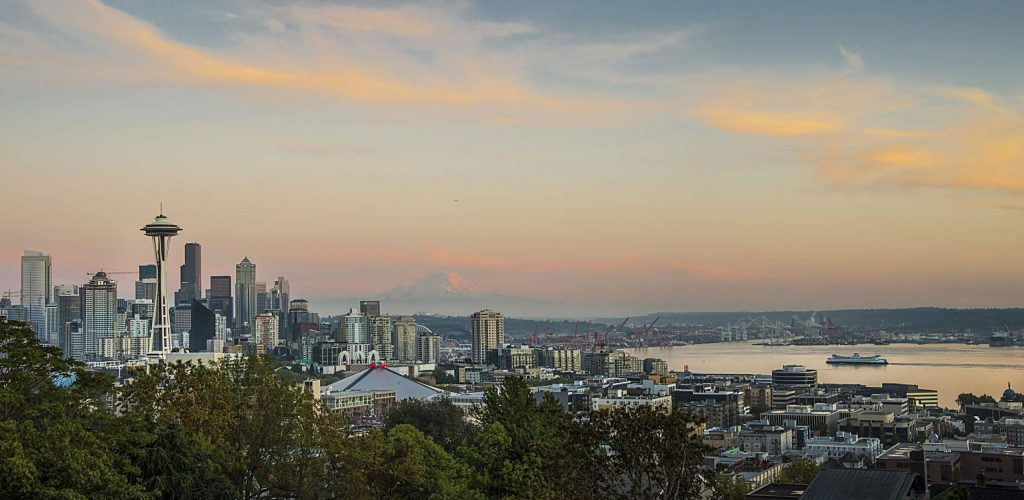 Seattle skyline from Kerry Park at sunset, Washington