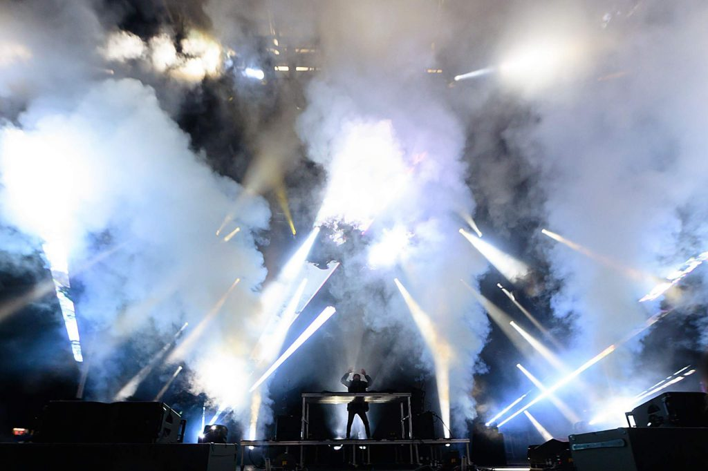 Alesso performs at X Games on Saturday night.