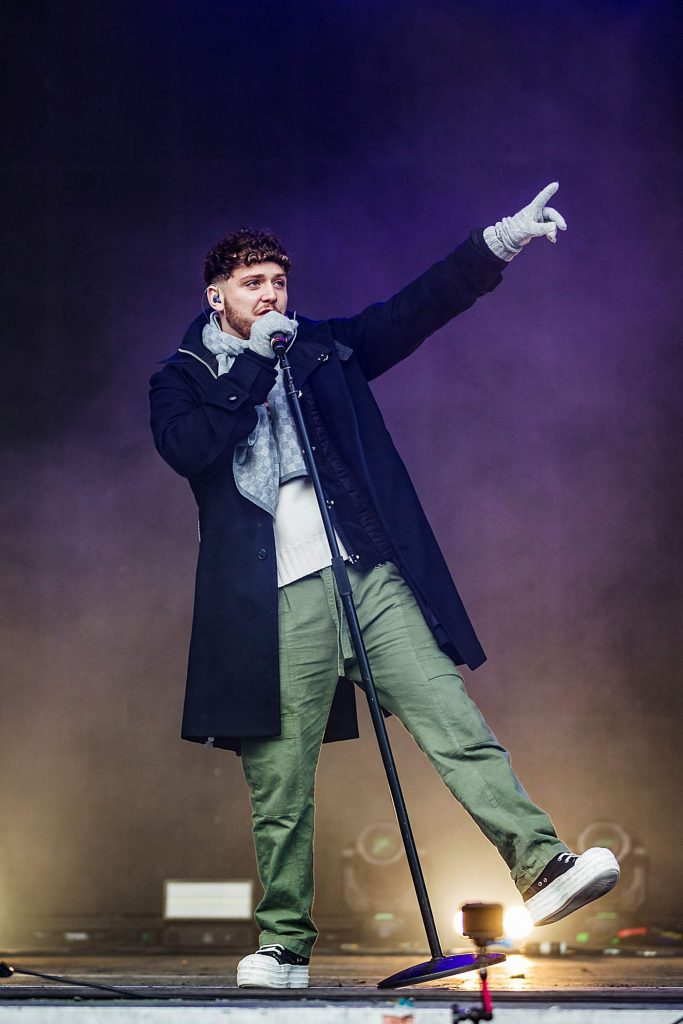 Musical artist Bazzi performs on Sunday, Jan. 26, 2020, on Buttermilk's Geico Music Stage for the last day of X Games Aspen in Aspen, Colo. (Liz Copan/Summit Daily News via AP)