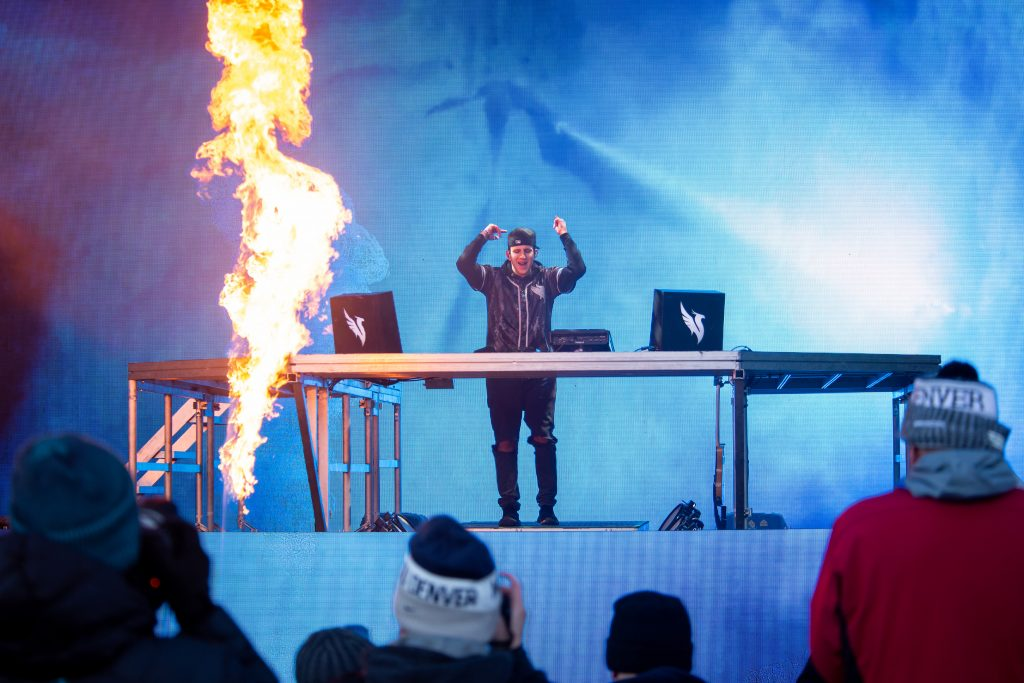 Illenium performs to a sold-out crowd at X Games on Saturday.