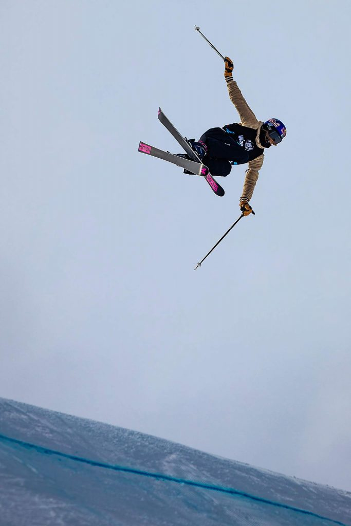 Kelly Sildaru wins gold in the X Games Aspen women's ski slopestyle finals on Sunday, Jan. 26, 2020, at Buttermilk Ski Area in Aspen Snowmass, Colo. (Liz Copan/Summit Daily News via AP)