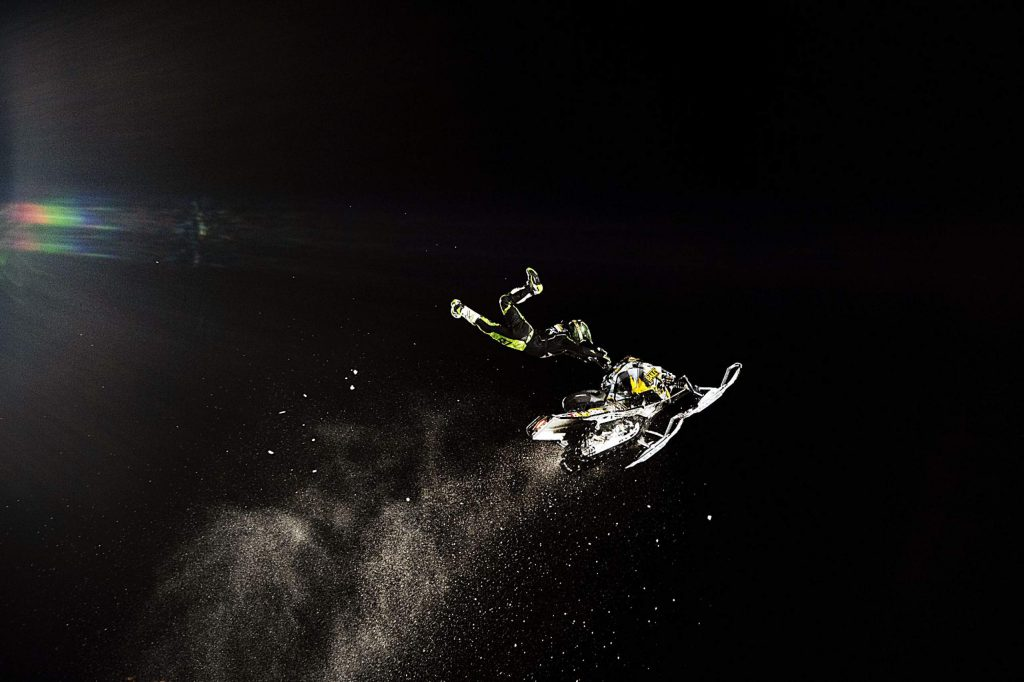 David England competes in the Snowmobile Freestyle Final on Friday, Jan. 24, 2020. England was the alternative after Joe Parsons scratched. (Kelsey Brunner/The Aspen Times)