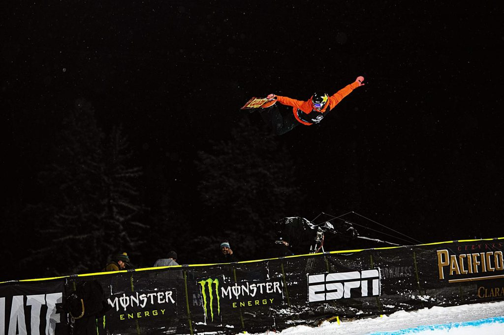 X Games snowboarder Chase Josey competes in the Men's Snowboard Superpipe qualifier on Wednesday, Jan. 22, 2020. Josey finished third to qualify for Thursday night's final.