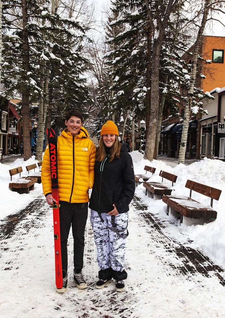 George Beck, 17, left, and Hanna Faulhaber, 15, are competing in the Youth Olympic Games in Switzerland this month. Beck will compete in ski mountaineering while Faulhaber is a halfpipe skier.