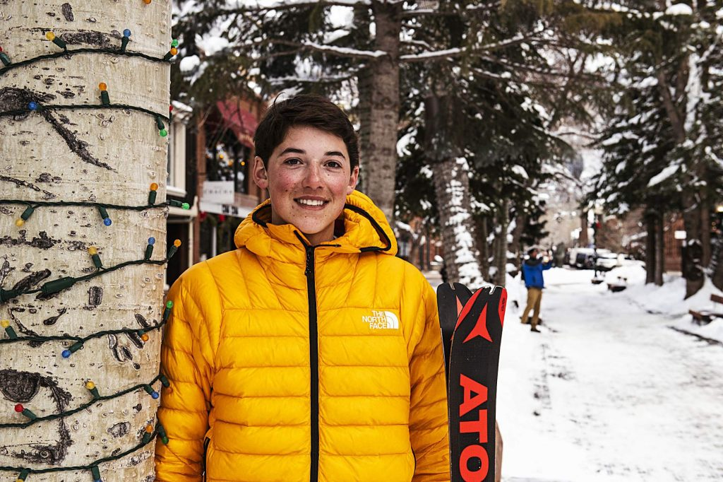 Aspen's George Beck, 17, competed in ski mountaineering this month at the Youth Olympic Games in Switzerland.
