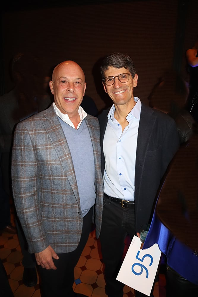 Hotel Jerome general manager Tony DiLucia and Aspen Skiing Company president and CEO Mike Kaplan.