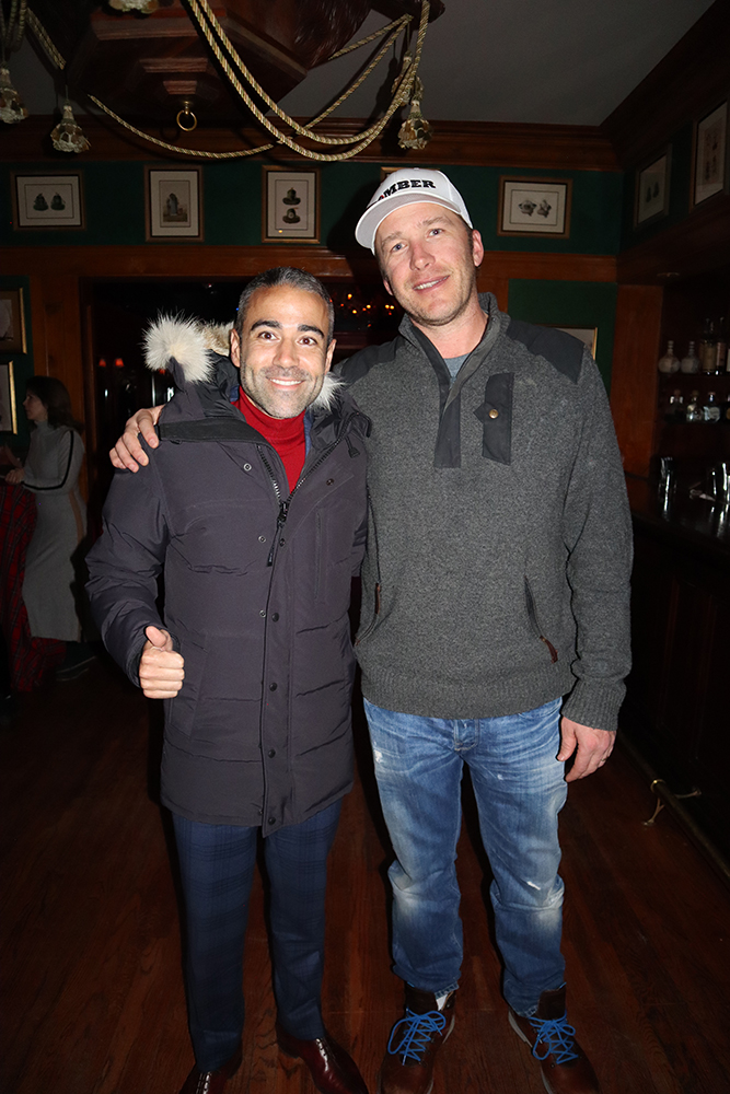 Jean-Francois Sberro and Bode Miller at the 'Bou.