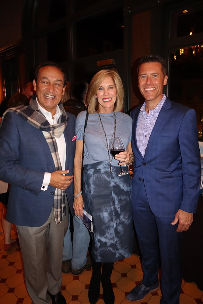 Oscar and Cathy Munoz with Ascendigo president and CEO Peter Bell.