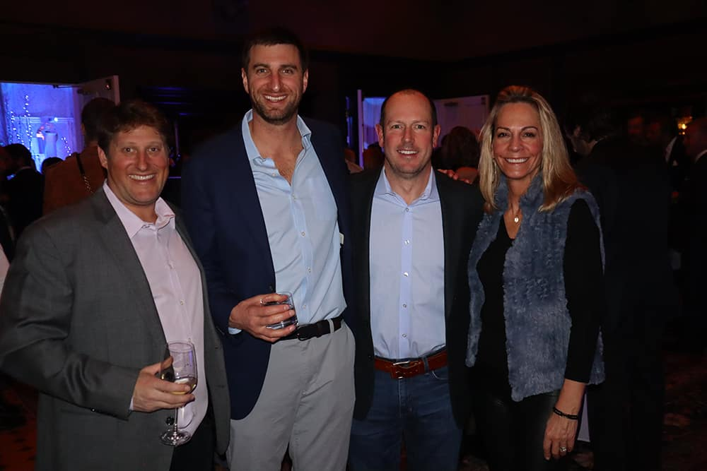 Jeff King and Mark Janian with event sponsor Sentient Jet's VP of sales Rob West and VP of partnerships/event marketing Kirsten LaMotte.