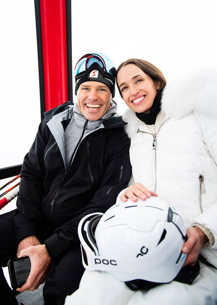 Ian and Etta McLendon in the Silver Queen Gondola during their ski wedding weekend, tying the knot on Dec. 14, 2019.