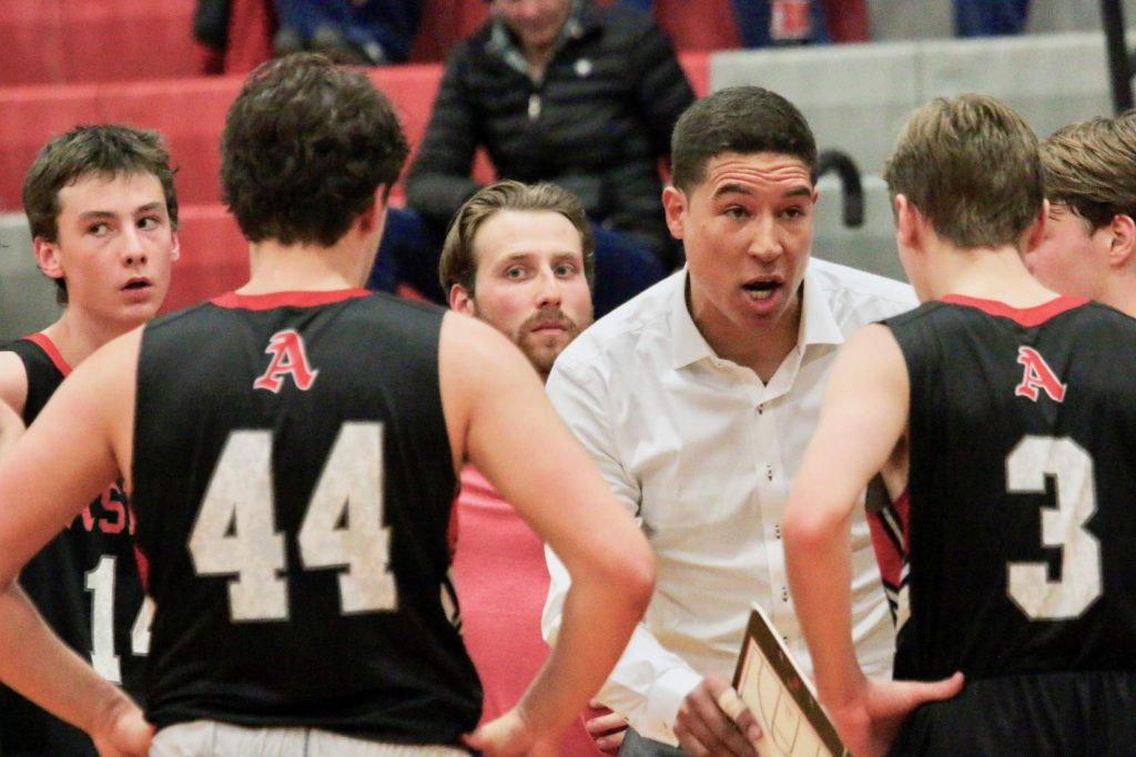 The Aspen High School boys basketball team played Roaring Fork in the district semifinal game on Friday, Feb. 28, 2020, in Grand Junction.