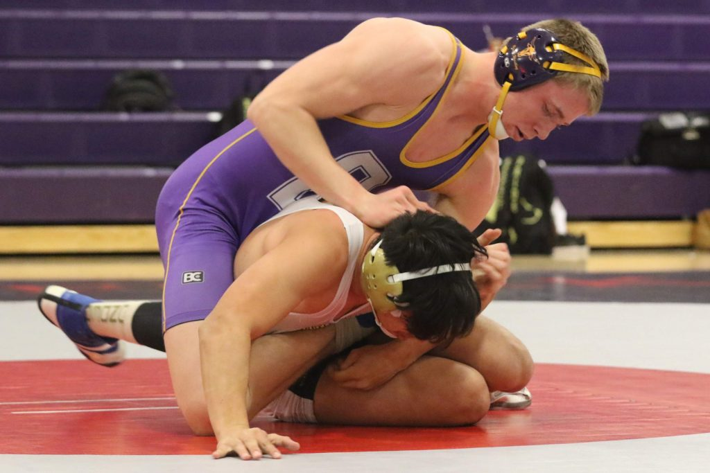 Basalt junior Ruben Samuelson wrestles in a match earlier this season. The 170-pounder is headed to the state tournament for the first time.