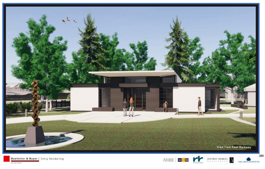 An architect's rendering of a new Center for Herbert Bayer Studies.