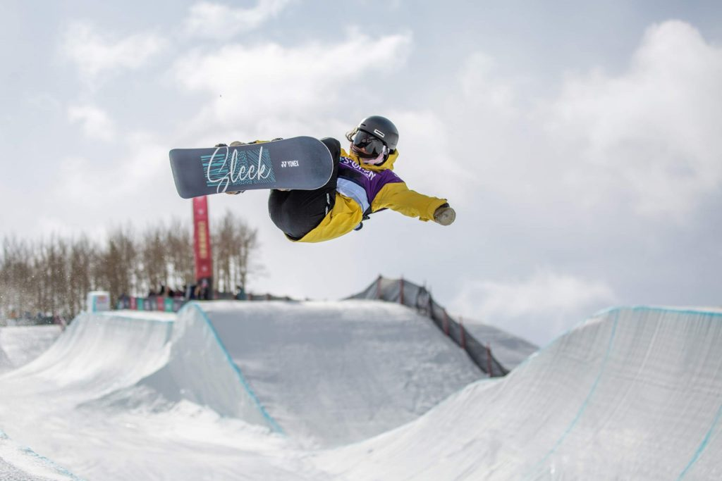 Ruki Tomita, of Japan, competes in the halfpipe semifinals at the Burton US Open Thursday in Vail. Tomita qualified for Saturday's finals in first position.