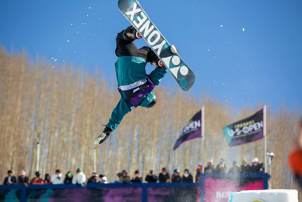 Jan Scherrer pops off the moddified portion of the halfpipe. Scherrer finished 2rd in the Men's Halfpipe competition.