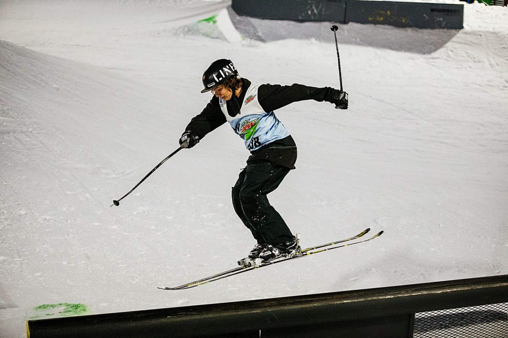 Tucker FitzSimons wins bronze in the men's ski streetstyle competition on Saturday, Feb. 8, day three of the Winter Dew Tour at Copper Mountain.