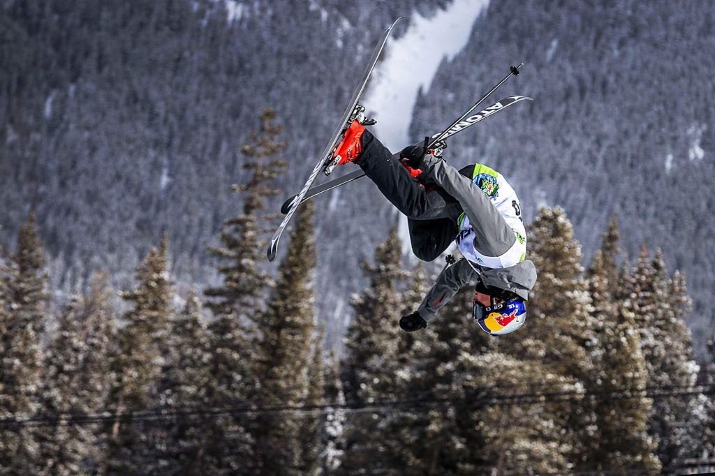 New Zealand's Nico Porteous practices for the modified ski superpipe event on Wednesday, Feb. 5, 2020, at Copper Mountain, Colo. before the Winter Dew Tour, Feb. 6th - 9th. (Liz Copan/Summit Daily News via AP)