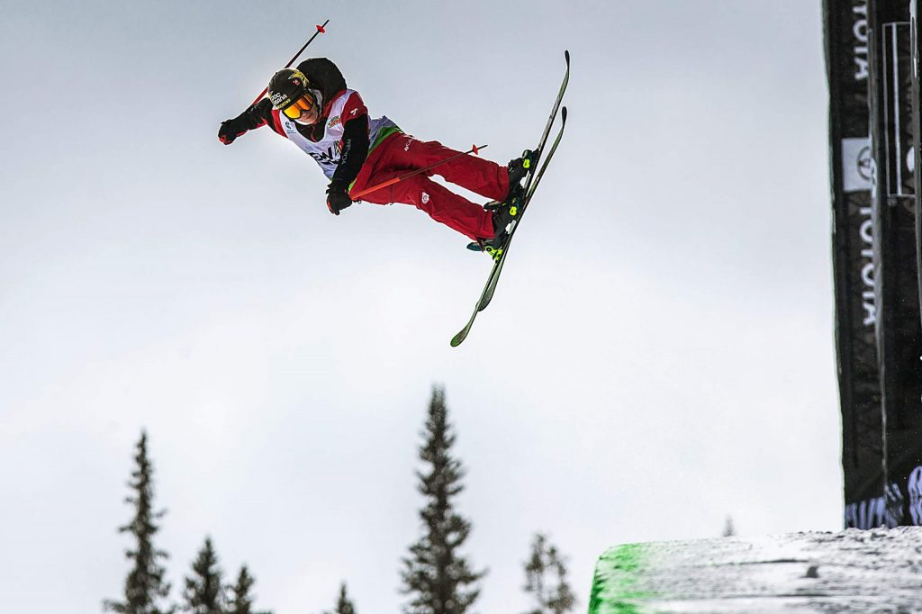 Aspen's Alex Ferreria gets some practice air on the superpipe on Wednesday, Feb. 5, 2020, at Copper Mountain, Colo. before the Winter Dew Tour, Feb. 6th - 9th. (Liz Copan/Summit Daily News via AP)