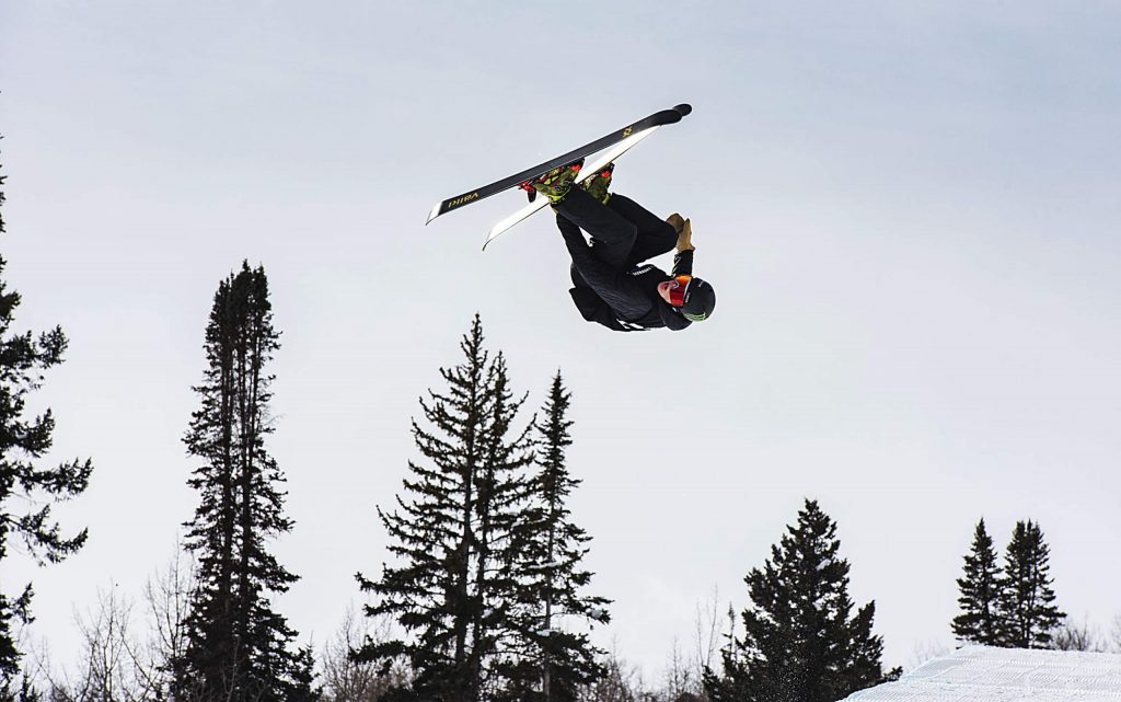 Aspen's Kai Morris competes in the men's superpipe qualifiers during the Aspen Snowmass Freeskiing Open at Buttermilk on Saturday, Feb. 15, 2020. (Kelsey Brunner/The Aspen Times)