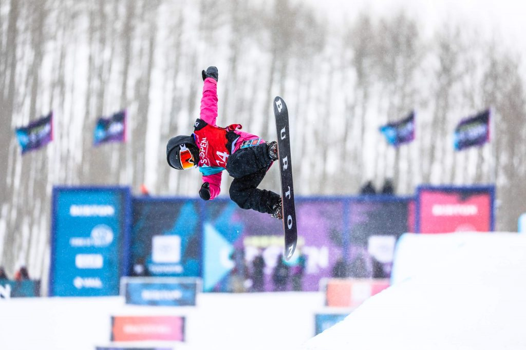 Patti Zhou competes in the Burton US Open Junior Jam on Tuesday in Vail. Zhou is 8 years old and rides with Ski & Snowboard Club Vail.