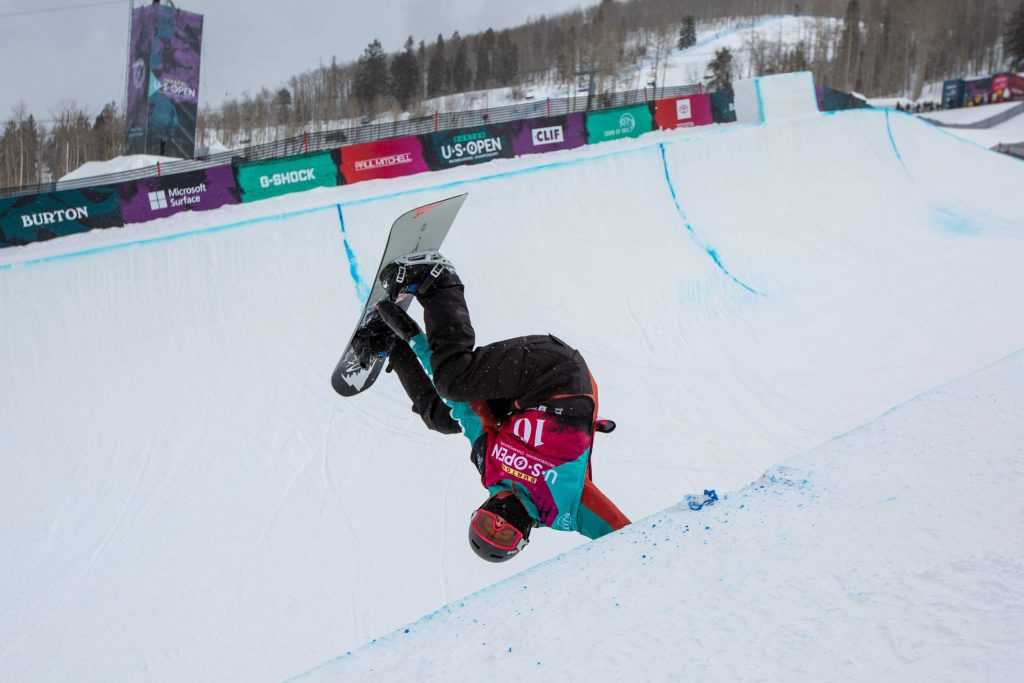 Jonas Hasler, 13, does a hand plant at the Junior Jam. Hasler finished second.