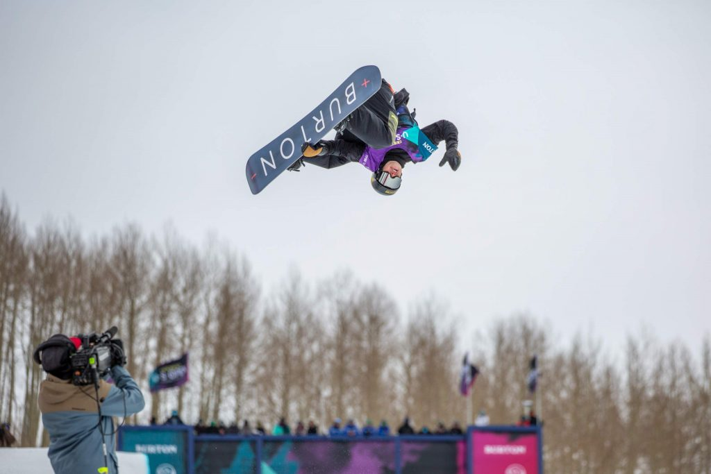 Jake Pates, of Eagle qualified for Saturday's Burton US Open halfpipe finals in fourth position on Thursday. Pates, 21, said he enjoyed the modified halfpipe format, which included both a 22-foot halfpipe and a 13-foot halfpipe.