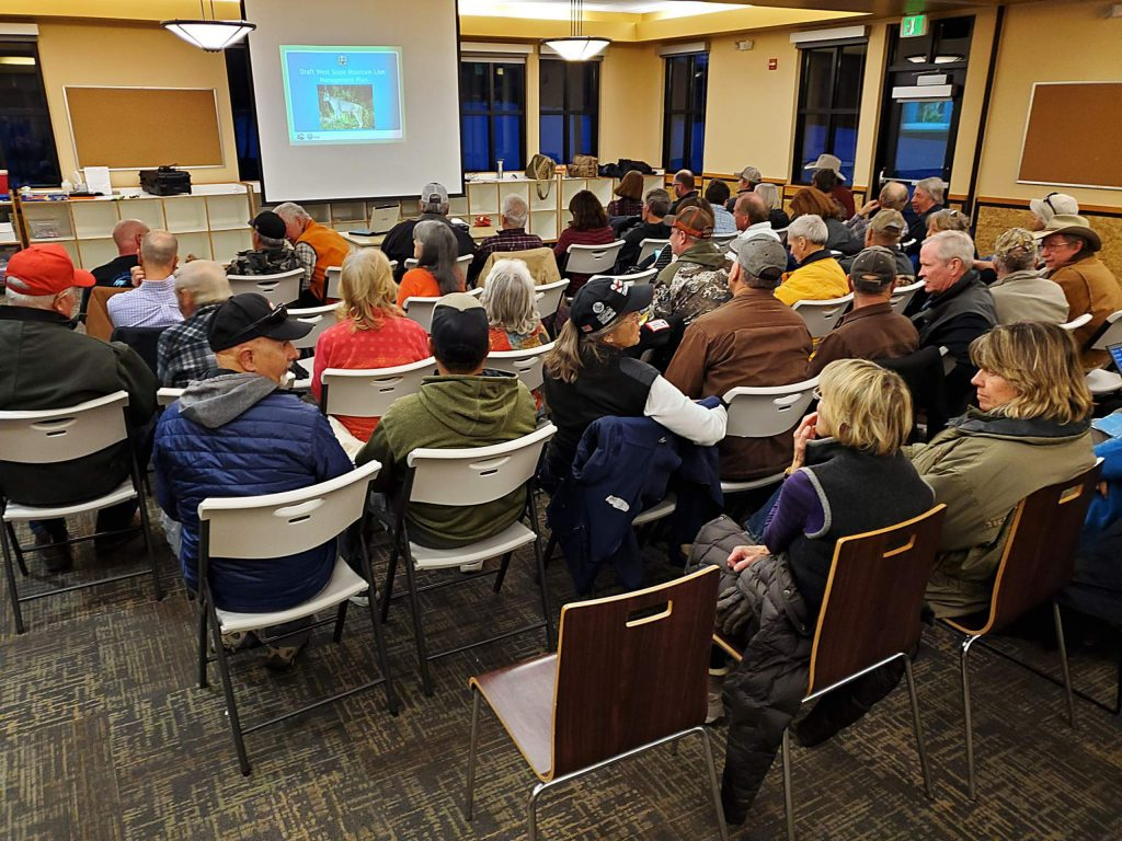 It was a full house at this week's Colorado Parks and Wildlife Western Slope Mountain Lion Management Plan meeting at the Gypsum Recreation District.
