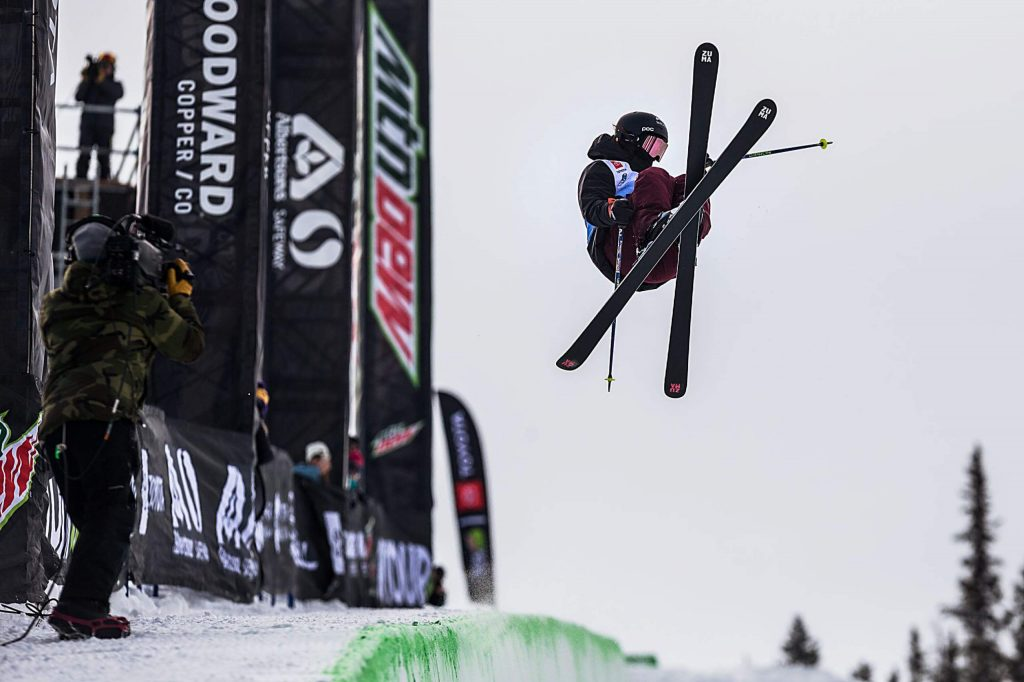 Rachael Karker wins silver with a score of 83.00 in the women's ski modified superpipe competition on Saturday, Feb. 8, day three of the Winter Dew Tour at Copper Mountain.