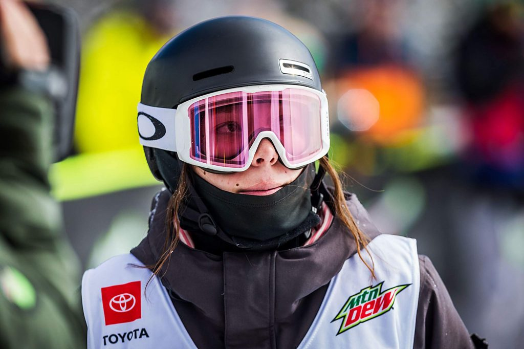 Zoe Atkin takes the bronze with an 80.00 in the women's ski modified superpipe competition on Saturday, Feb. 8, day three of the Winter Dew Tour at Copper Mountain.