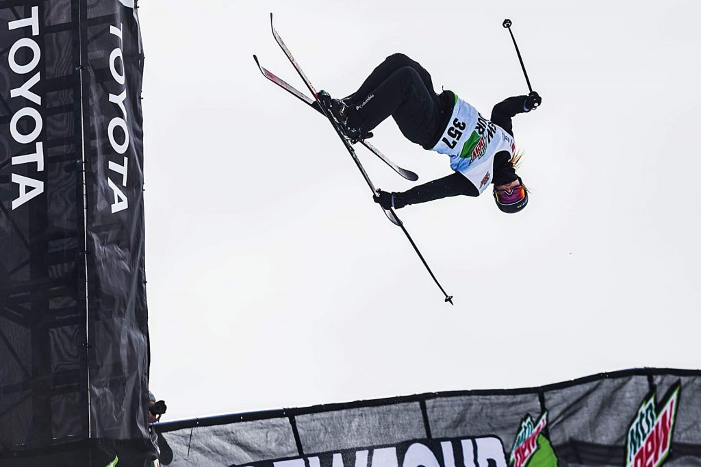 Cassie Sharpe takes gold in the women's ski modified superpipe competition on Saturday, Feb. 8, day three of the Winter Dew Tour at Copper Mountain.